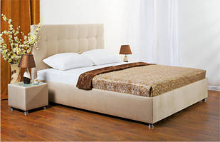 Ліжко з підйомним механізмом з м'якою спинкою в спальню Лугано 140х200 НСТ Альянс без тканини