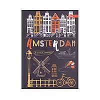 "Скетчбук А5, чорні та білі аркуші ""Amsterdam"""