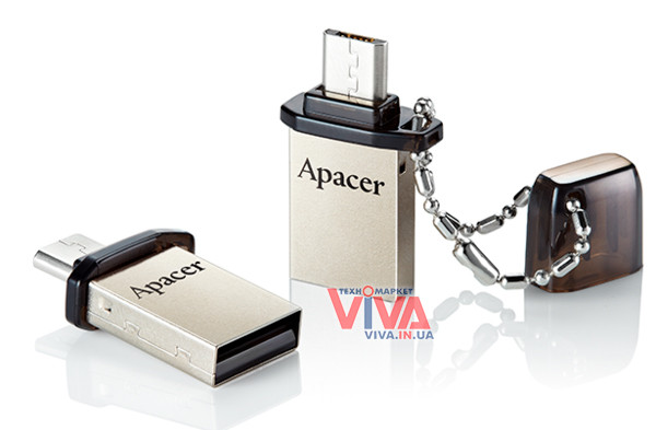USB флешка Apacer AH175 32 Gb OTG Mobile Black