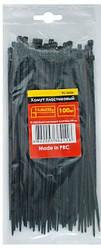 Хомуты (стяжки) пластиковые 3,6x250мм черные INTERTOOL TC-3626 (100 шт)