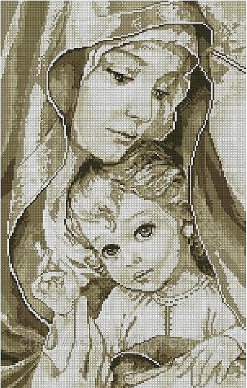 """Набор алмазной вышивки (мозаики) """"Мадонна с младенцем"""""""