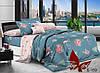 Полуторный комплект постельного белья  Фламинго