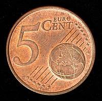 Монета Германии 5 евро центов 2004 г