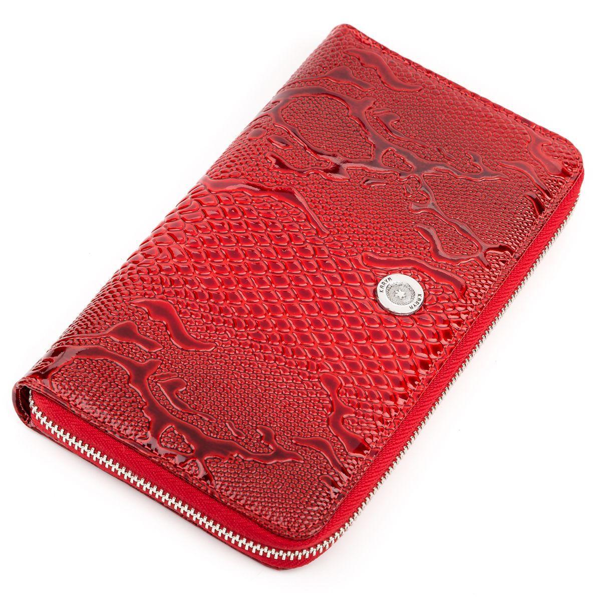 Гаманець-клатч жіночий KARYA 17070 шкіряний Червоний, Червоний