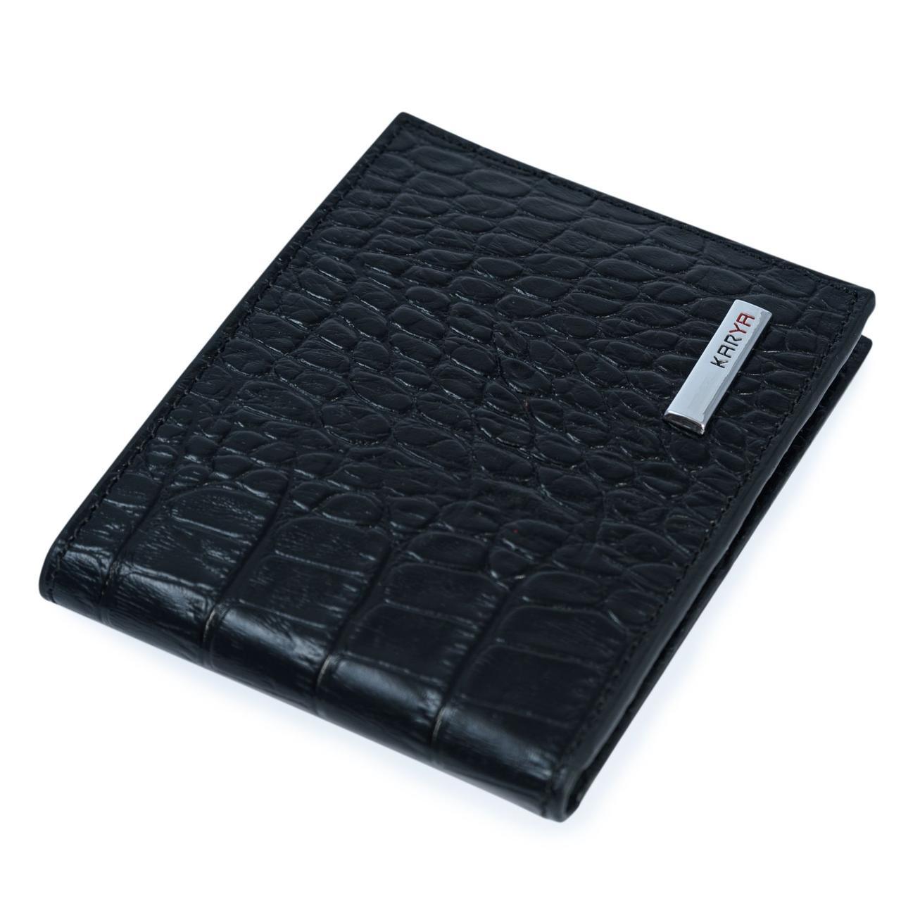 Зажим мужской KARYA 17093 кожаный Черный, Черный