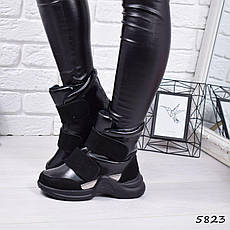 """Ботинки, ботильоны черные демисезонные """"Louise"""" эко кожа, повседневная,осенняя, женская обувь, фото 3"""