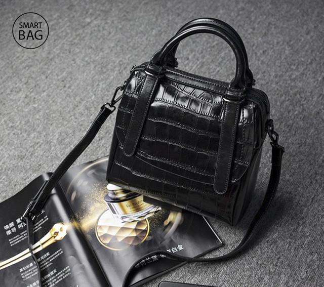 Женская кожаная сумка | черная