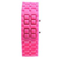 Светодиодные часы Самурай розовые
