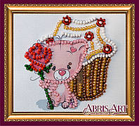 Набор для вышивки бисером «Магнит» Кекс и роза
