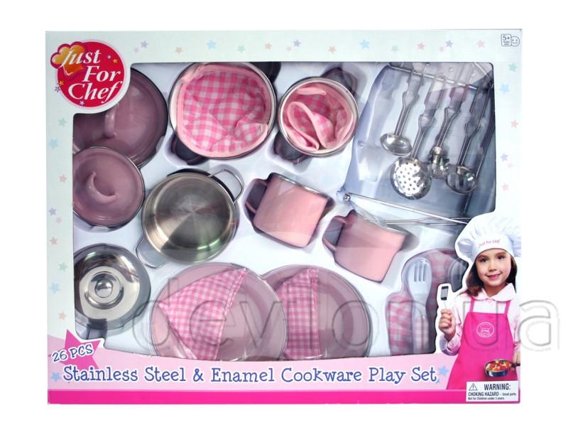 Набор игровой посуды - кухонный, 26 шт, нержавеющая сталь, эмалированный (CH2026SEM)