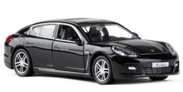 Колекційна машинка Porsche Panamera чорна металева модель в масштабі 1:36