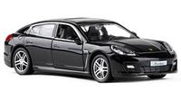 Коллекционная машинка Porsche Panamera черная металлическая модель в масштабе 1:36, фото 1