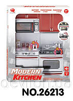 """Кукольная кухня """"Современная кухня""""-2, красная, арт. 26213"""