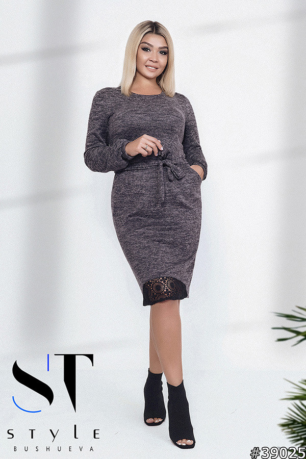 Очаровательное модное платье приталенного кроя