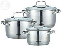 Набор посуды ( Набор кастрюль ) 6 предметов Bohmann (Бохманн) BH-1903