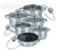 Набор посуды ( Набор кастрюль ) 12 предметов Bohmann 1275 NTF ВН