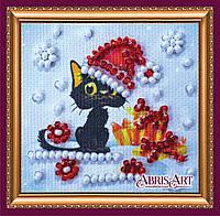 Набор для вышивки бисером ТМ АБрис Арт «Магнит мини» Скоро Новый год