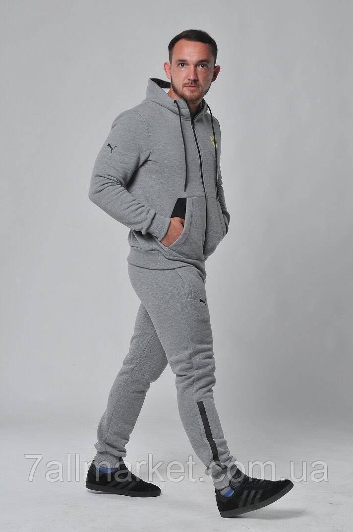 Спортивный костюм мужской на флисе с манжетами размеры S-2XL (2цвет) Серия