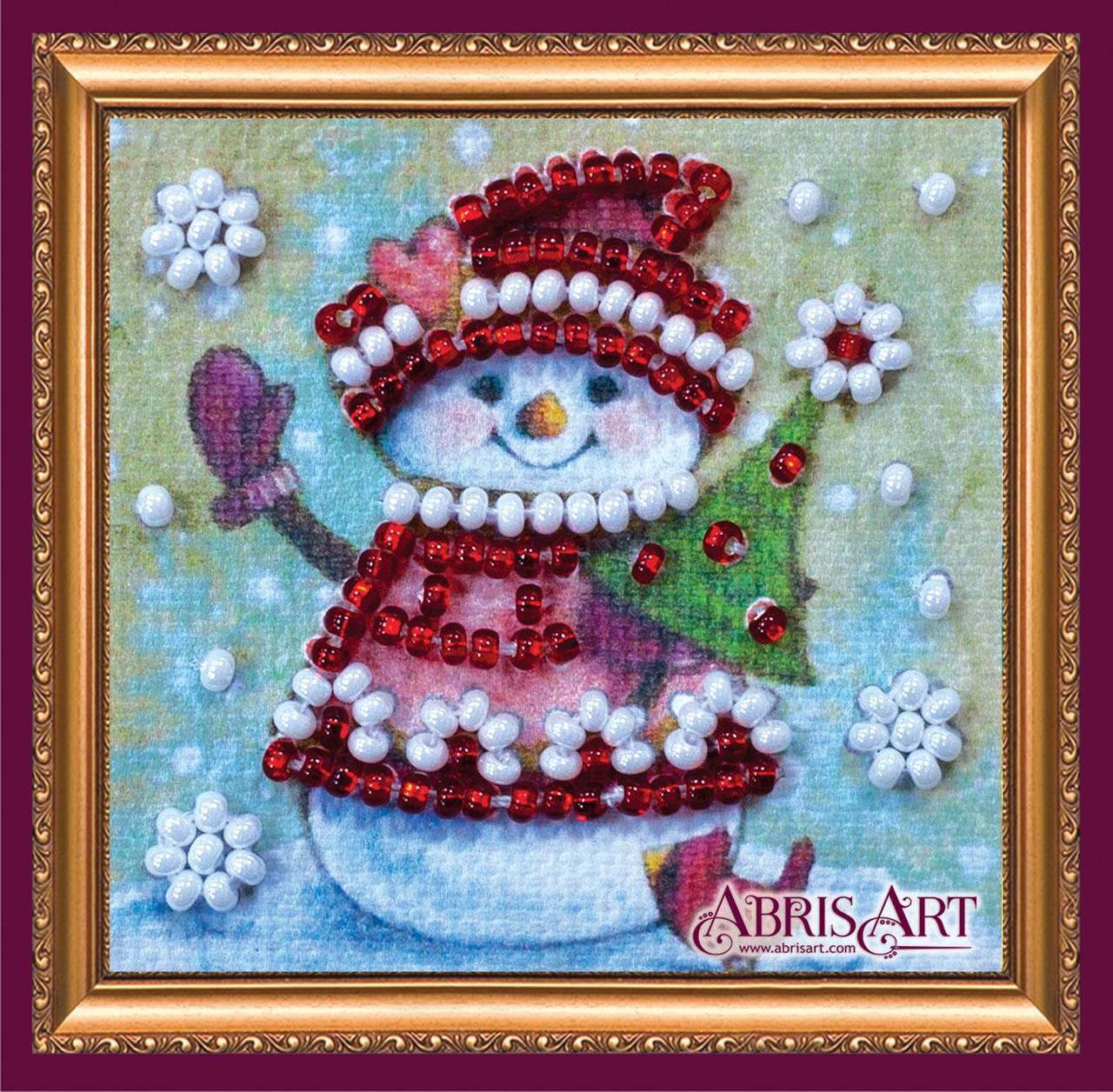 Набор для вышивки бисером ТМ АБрис Арт «Магнит мини» Зимний гость