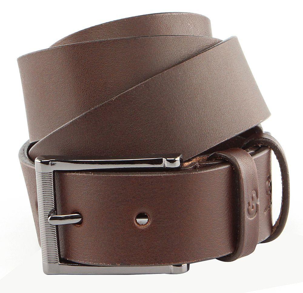 Ремень мужской GRANDE PELLE 00235 кожаный Коричневый, Коричневый