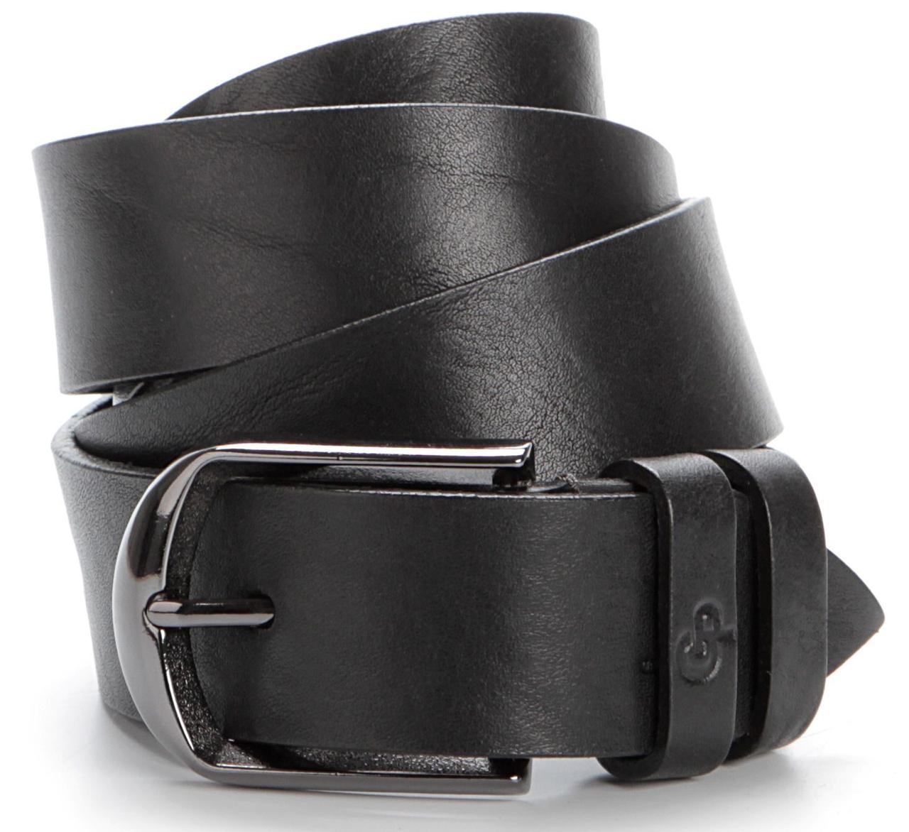 Ремень мужской GRANDE PELLE 00772 натуральная кожа Черный, Черный