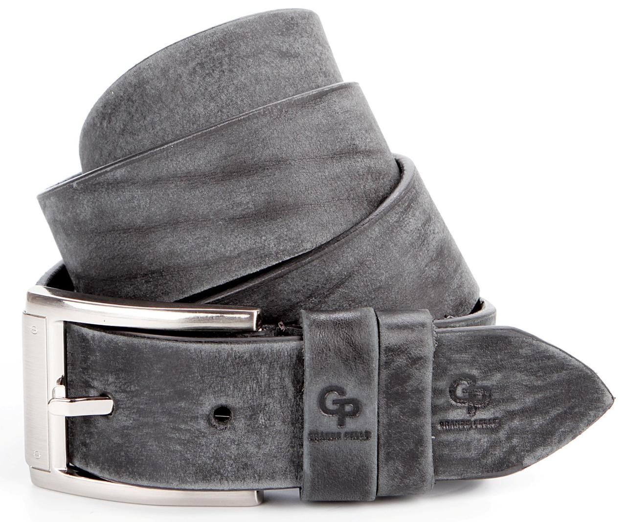 Ремінь чоловічий GRANDE PELLE 00863 джинсовий Сірий, Сірий