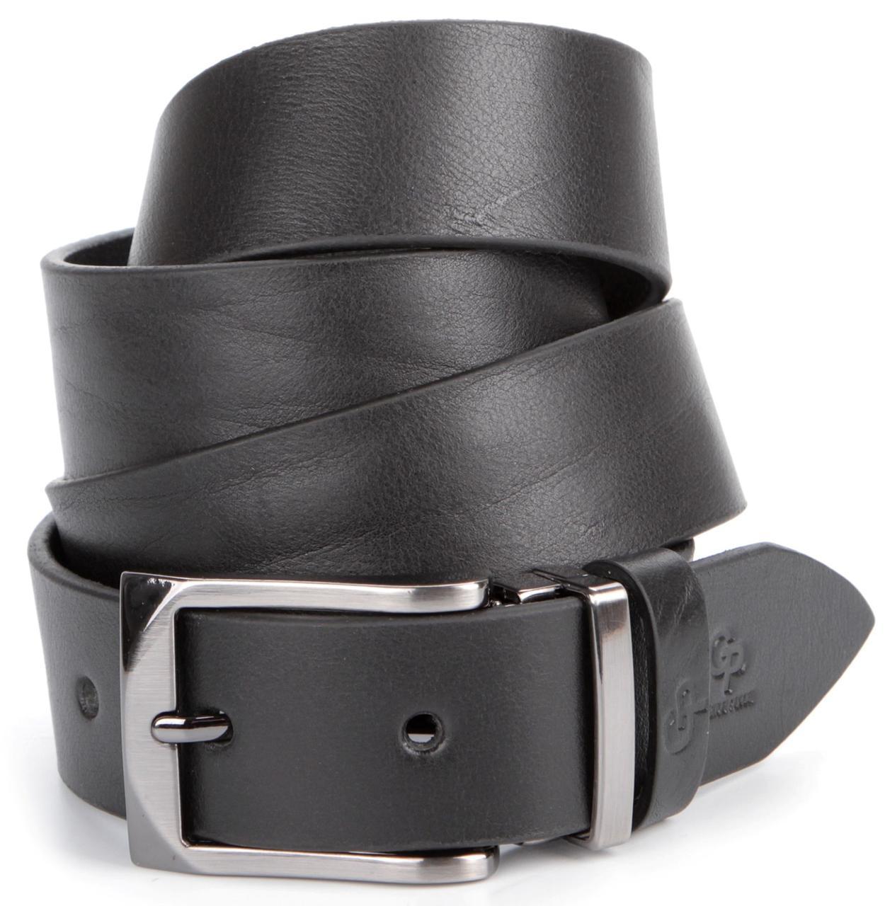 Ремень мужской GRANDE PELLE 00872 Черный, Черный