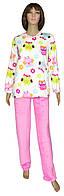 Пижама женская зимняя махровая 18202 Owl Pink вельсофт, р.р.42-56