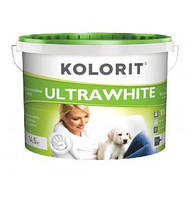 Водно-дисперсионная краска Kolorit Ultrawhite (Колорит Ультравайт) 5 л (ЭКО)