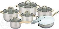 Набор посуды ( Набор кастрюль ) 12 предметов Bohmann BH-1212 WGC