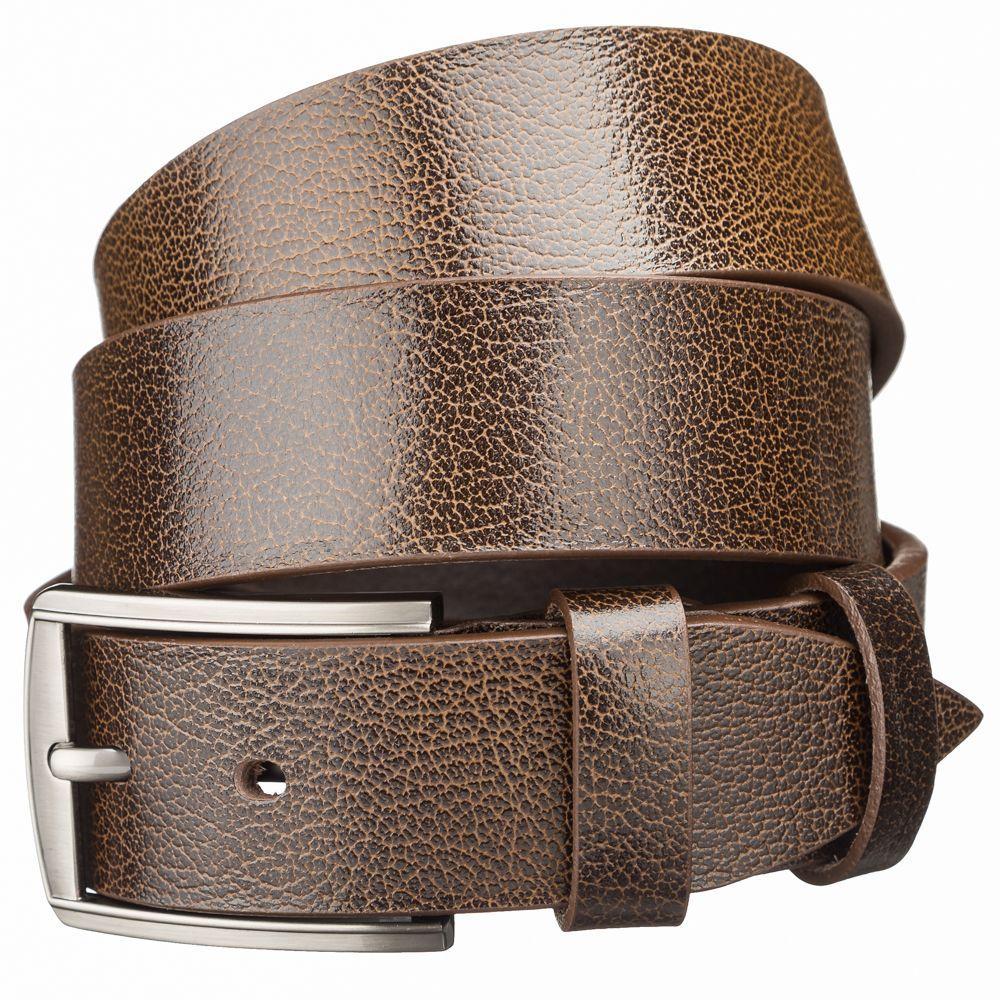 Мужской кожаный ремень MAYBIK 15248 Коричневый, Коричневый