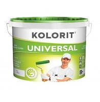 Устойчивая к мытью краска Kolorit Universal (Колорит Универсал) 1 л (ЭКО)