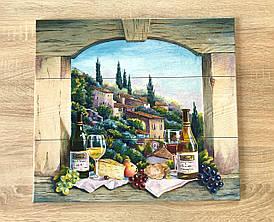 Роспись плитки Фартук для кухни панно из керамической плитки Натюрморт с вином