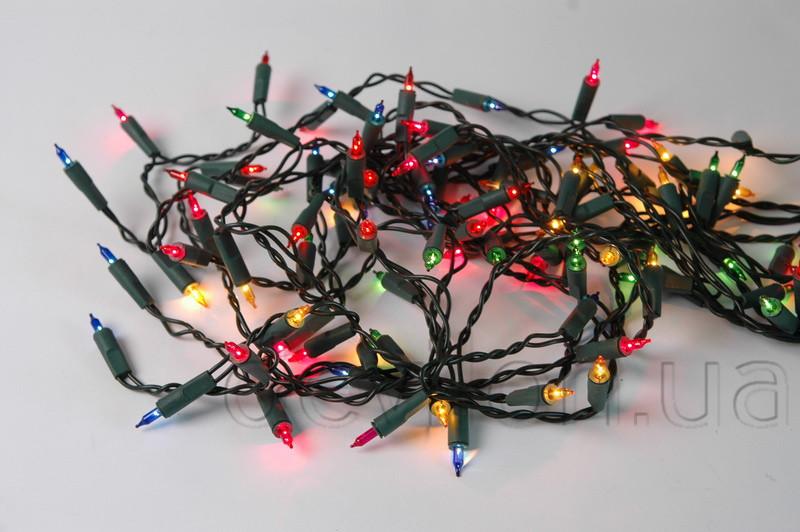 Світлодіодна гірлянда звичайні лампочки 20Л різнобарвна (350469)