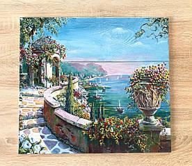 Роспись плитки Фартук для кухни  панно из керамической плитки Средиземноморский пейзаж