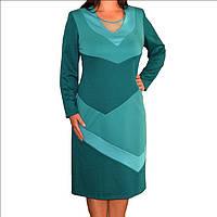 Купить трикотажное офисное платье р. 52, фото 1