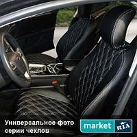 Чехлы на сиденья Audi A6 из Экокожи (AVTOMANIA), полный комплект (5 мест)