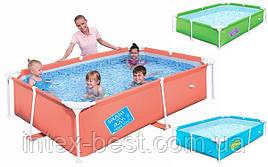 Детский каркасный бассейн Bestway 56220 Оранжевый (239x150x58 см.)