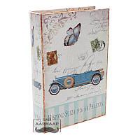 Книга сейф тайник для денег Ретро автомобиль