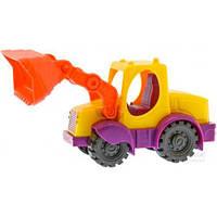 Мини-экскаватор цвет манго-сливово-томатный, игрушка для игры с песком, Battat BX1420Z