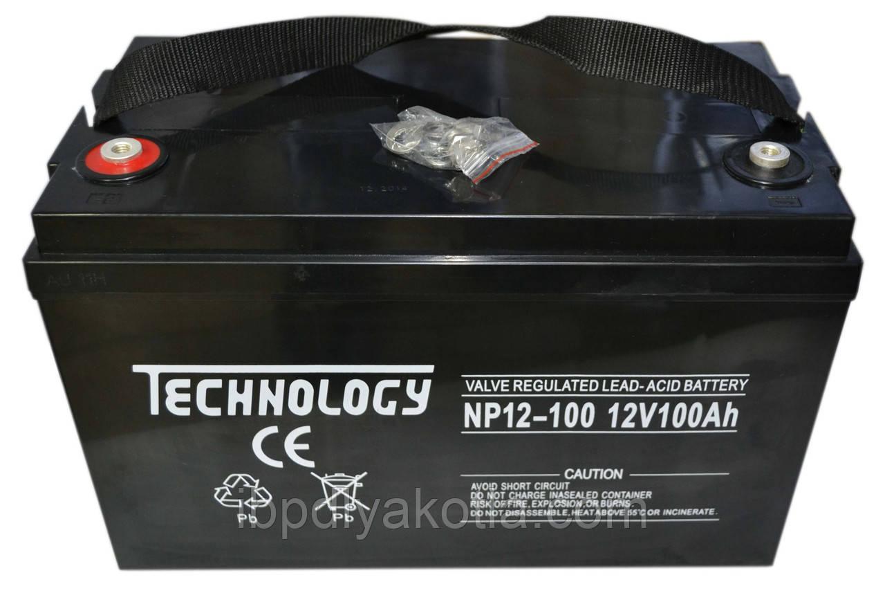 Аккумулятор мультигелевый TECHNOLOGY NP12-100Ah 12V 100AH, (AGM) для ИБП