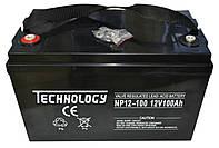 Аккумулятор мультигелевый TECHNOLOGY NP12-100Ah 12V 100AH, (AGM) для ИБП, фото 1