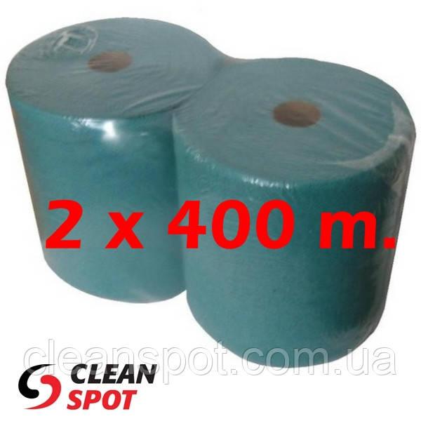 Промышленные бумажные полотенца для протирки зеленые однослойные Econom UKZ001