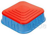 Песочница квадратная с крышкой, арт. 04-516