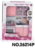 """Кукольная кухня """"Современная кухня""""-3,розовая, арт. 26214P"""