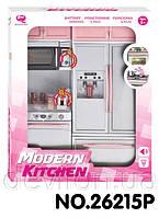 """Кукольная кухня """"Современная кухня""""-4,розовая, арт. 26215P"""