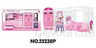 """Кукольная спальня """"Сладкий домик"""", розовая, арт. 25238P"""