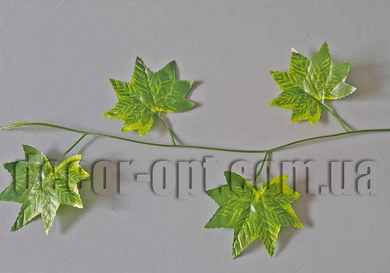 Гірлянда листя клена зелених-жовтих 8,0 см/2,3 м №6