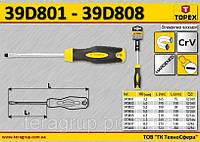 Отвертка шлицевая намагничена 6.5мм, L1-150мм,  TOPEX  39D806