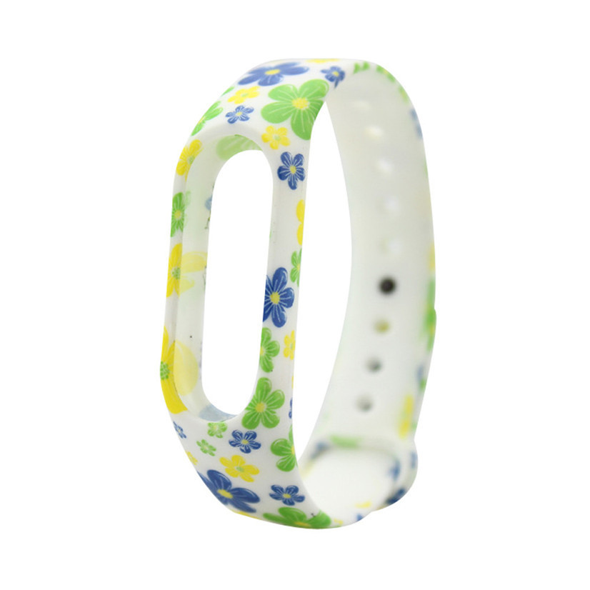 Ремешок Fitness для Xiaomi Mi Band 2 Tricolor Flowers (123279)